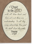 Proverbs 3:5-6 - 5x7 inches