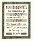 O Love That Will Not Let Me Go - 8x10 inches