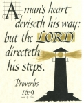 Proverbs 16:9 - 5x7 inches